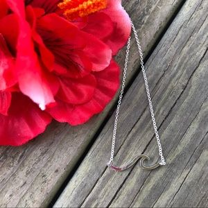 Jewelry - Silver Wave Fashion Necklace Beach Ocean